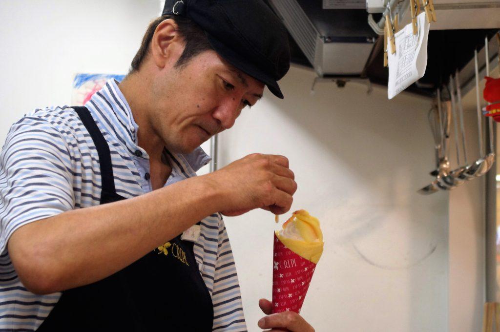 ジャパンクレープ豊橋カルミア店の米粉クレープ