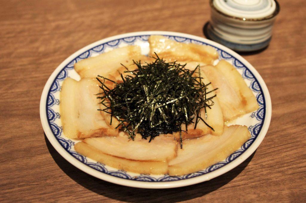 一蘭の釜だれとんこつ焼き豚皿