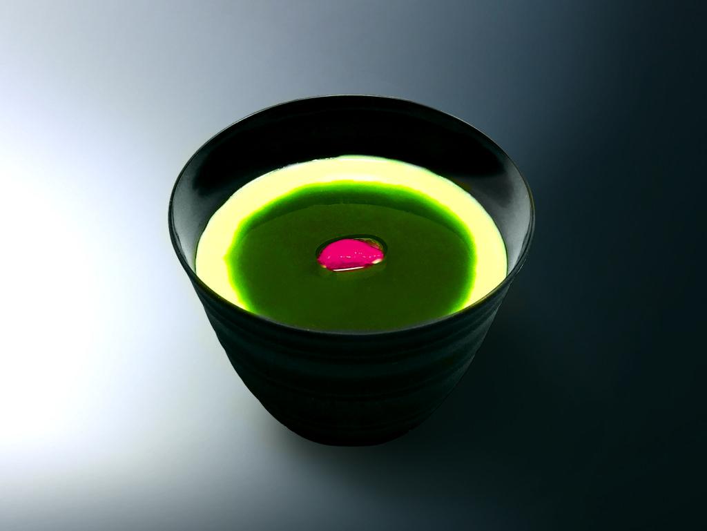 一蘭の抹茶杏仁豆腐
