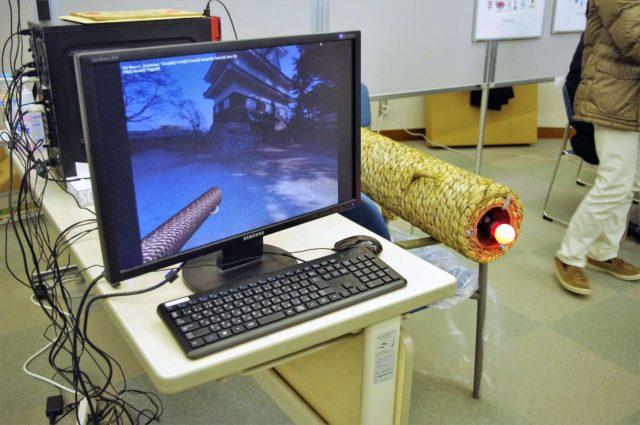 豊橋伝統VR手筒花火のモニター