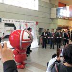 豊橋駅の改札前にタッチパネル(デジタルサイネージ)が導入されたぞ!