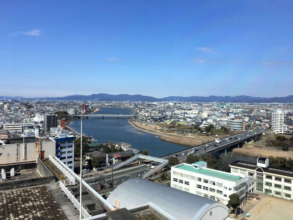 豊橋市役所展望台からの景色