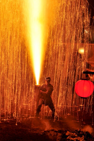 豊橋祇園祭の手筒花火