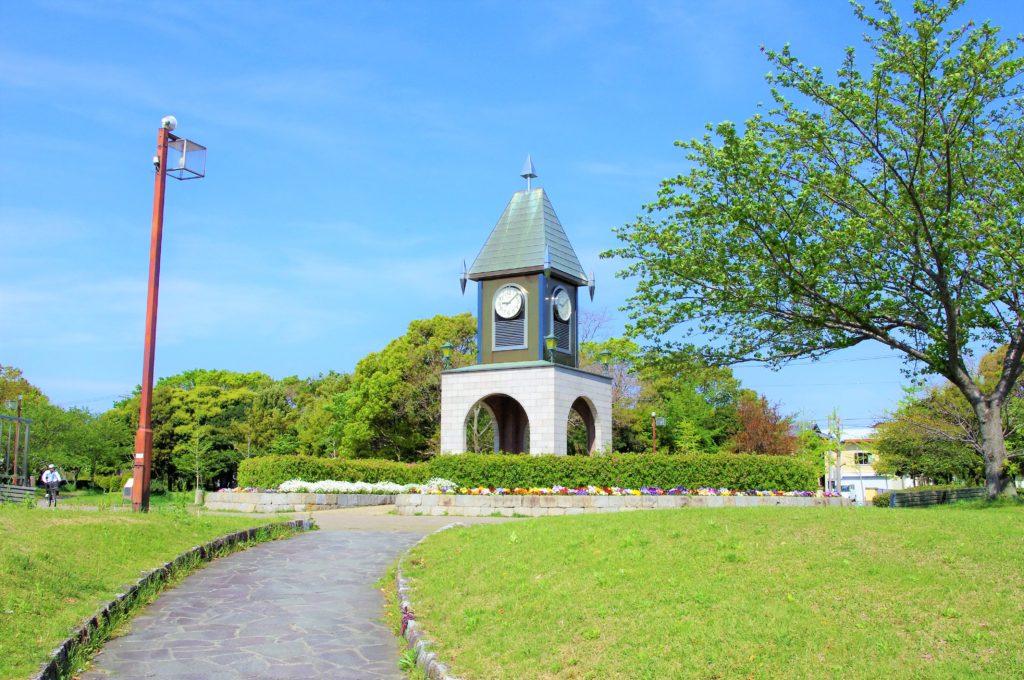 豊橋市 幸公園の時計台
