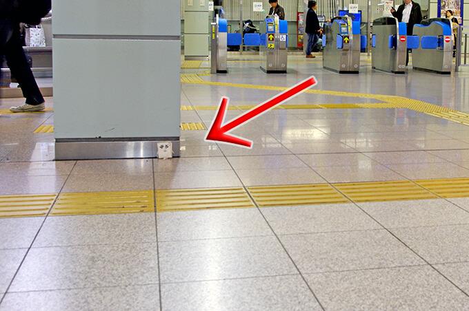 豊橋駅の新幹線改札前